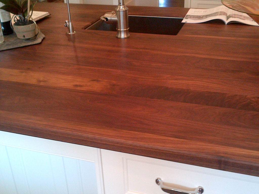 Euro Plank Black Walnut Wood Countertop By CafeCountertops