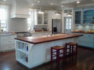 Iroko wood Island countertop by CafeCountertops