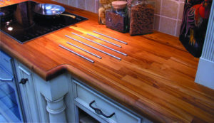 Teak wood countertop with heat rods by CafeCountertops 1