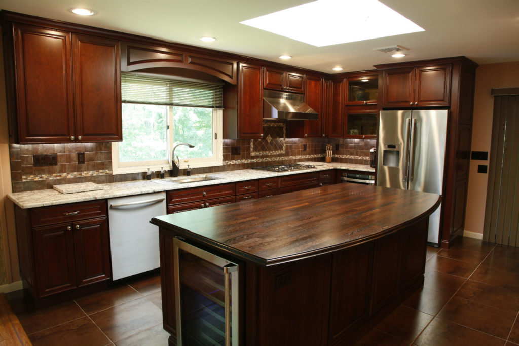 Black And Wood Kitchen Table
