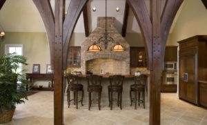 Mahogany u-shape wood countertop by CafeCountertops 3